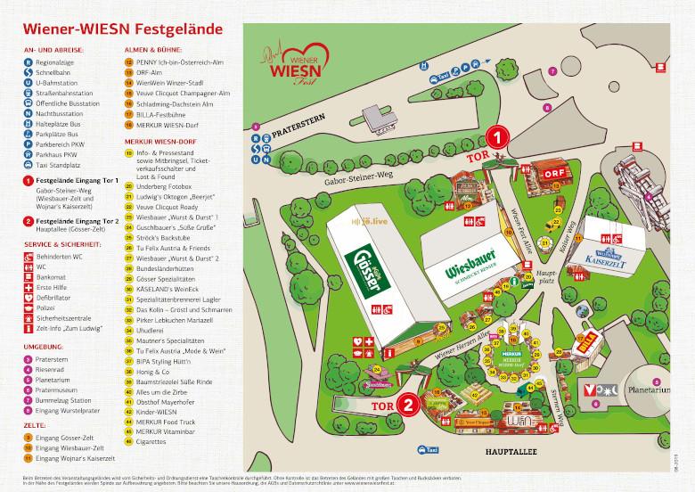 Wiener Wiesn 2019 Festgeländeplan