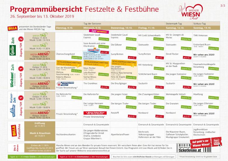 Wiener Wiesn 2019 Programm